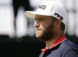 Andy Sullivan of England walks to the fairway at the PGA