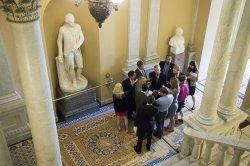 Senate Democrats Speak on Legislation to Address the Supreme Court's Hobby lobby Decision in Washingoton, D.C.