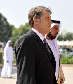 Ukrainian President Yushchenko visits United Arab Emirates