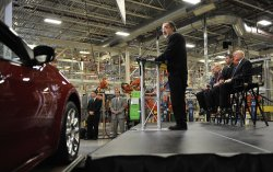 Chrysler Chairman and CEO Marchionne Speaks to Workers in Belvidere, Illinois