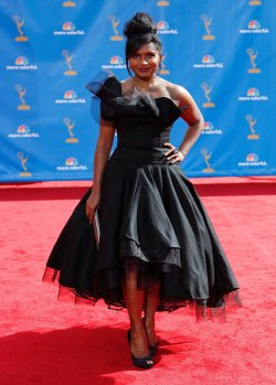 Mindy Kaling arrives at the 62nd Primetime Emmy Awards in Los Angeles