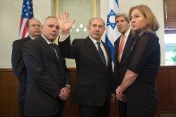 US Secretary of State John Kerry Meets Israeli Prime Minister Benjamin Netanyahu