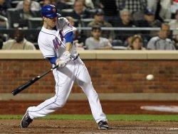 New York Mets Jason Bay hits a 2-run homer at Citi Field in New York