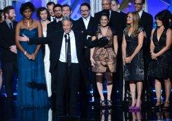 Jon Stewart attends the 64th Primetime Emmy Awards in Los Angeles