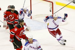 New York Rangers defeat the New Jersey Devils in Game 3 of the Eastern Conference Finals at the Prudential Center in New Jersey