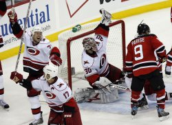 Carolina Hurricanes at New Jersey Devils NHL Post Season Eastern Conference Quarterfinal Game 7 in New Jersey