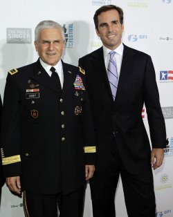 General George Casey and Bob Woodruff arrive at the Stand Up For Heros Event at the Beacon Theatre in New Yorki