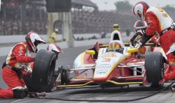 Castroneves Pits During Indianapolis 500