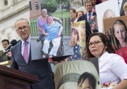 Senate Democrats speak out against the Republican Health Care Bill in Washington