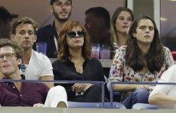 Susan Sarandon watches tennis at the US Open