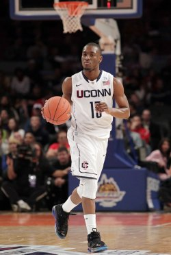 Connecticut Huskies Kemba Walker at the NCAA Big East Men's Basketball Championships in New York