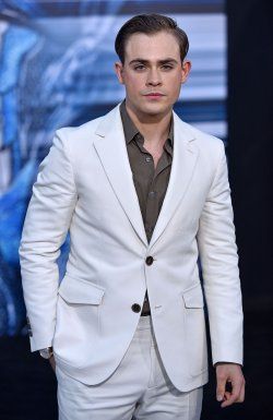 Dacre Montgomery attends the 'Power Rangers' premiere in Los Angeles