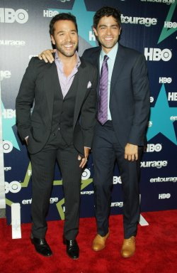 """Jeremy Piven and Andrian Grenier attend the premiere of HBO's """"Entourage"""" in New York"""