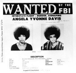 FBI Wanted Poster for Angela Davis