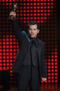 John Leguizamo accepts award at the ALMA Awards in Los Angeles
