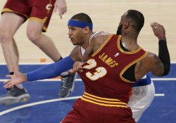 Cavaliers LeBron James and Knicks Carmelo Anthony battle