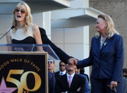 Bruce Dern, Laura Dern and Diane Ladd honored on Hollywood Walk of Fame with triple star ceremony in Los Angeles