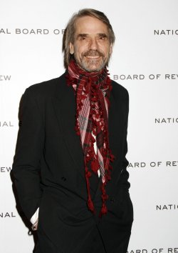 Jeremy Irons arrives for the National Board of Review Awards in New York