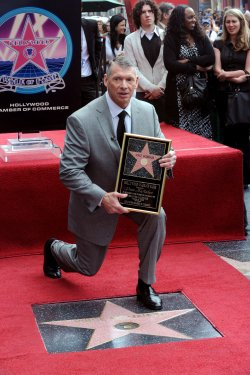 Vince McMahon receives star on Ho;;ywood Walk of Fame in Los Angeles