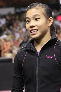 Gymnast Ivana Hong is seen at the Visa Chamnpionhip in Dallas