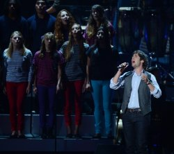 Josh Groban performs during the taping of CBS' Teacher's Rock live concert in Los Angeles
