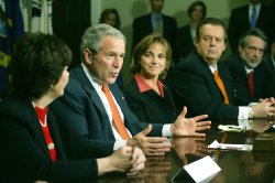 DC: BUSH ATTENDS IMMIGRATION REFORM MEETING