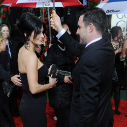 Courteney Cox and David Arquette arrive at the 67th annual Golden Globe Awards in Beverly Hills