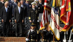 Joint Chiefs Chair Adm. Mullen hands over reigns to Gen. Dempsey in Virginia