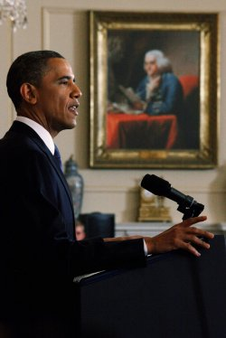 President Obama Delivers Speech On Mideast And North Africa Policy in Washington