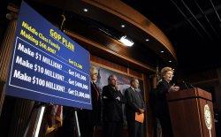 Democrats discuss tax bill in Washington