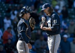 Brewers' Kottaras and Axford Talk Against Cubs in Chicago