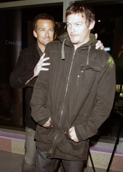 """Sean Patrick Flanery and Norman Reedus arrive for the premiere of """"The Boondock Saints II: All Saints Day"""" in New York"""