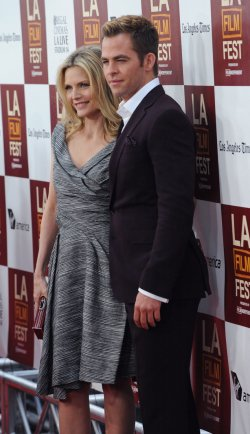 "Chris Pine and Michelle Pfeiffer attend the ""People Like Us"" premiere in Los Angeles"