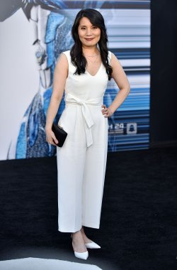 Fiona Fu attends the 'Power Rangers' premiere in Los Angeles