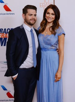 Jack Osbourne and Lisa Stelly attend the 20th annual Race to Erase MS gala in Los Angeles
