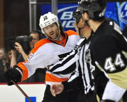 Penguins Brooks Orpik Receives Interference Penalty in Pittsburgh