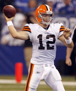 Browns McCoy Passes Against Colts