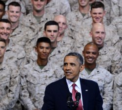 Obama says military depends on strong economy at Camp Pendleton in California