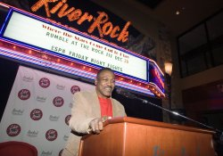 Smokin' Joe Frazier attends Rumble at the Rock III press conference in the River Rock Casino near Vancouver