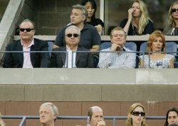 Nicholson, Michaels and Philbin watch men's final at the US Open Tennis Championship in New York