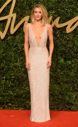 Rosie Huntington Whiteley attends the British Fashion Awards in London