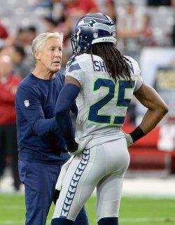 Seahawks' Carroll talks to Sherman
