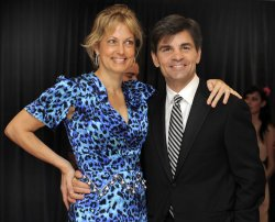 George Stephanopoulos and wife Alexandra Wentworth arrive for White House Correspondent's Assoc. in Washington DC