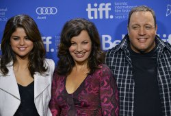 Fran Drescher and Selena Gomez attend 'Hotel Transylvania' press conference at the Toronto International Film Festival