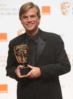 "Aaron Sorkin attends press room at ""BAFTA"" ceremony in London"