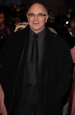 Bob Hoskins attends A Christmas Carol premiere in London