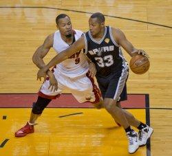 San Antonio Spurs vs Miami Heat in the NBA Finals in Miami