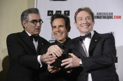 Eugene Levy, Martin Short and Ben Stiller at the 2012 presentation of the American Cinematheque Award in Beverly Hills