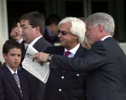 FORMER PRESIDENT CLINTON BECOMES THE 1ST PRESIDENT TO ATTEND THE BELMONT STAKES RACE