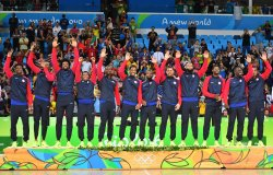 The United States basketball team wins gold at Rio Olympics